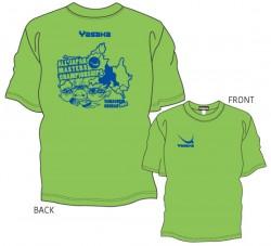 全日本卓球選手権大会〔マスターズの部〕限定Tシャツ〈ライムグリーン×ロイヤルブルー〉