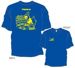 全日本卓球選手権大会〔マスターズの部〕限定Tシャツ〈ロイヤルブルー×イエロー〉