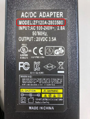 ZF120A280350交換対象品【拡大写真】