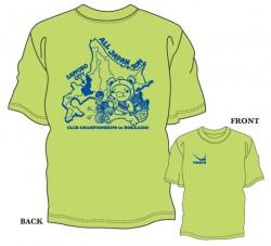 第33回全日本クラブ選手権大会限定Tシャツ〈ライトグリーン×ロイヤルブルー〉