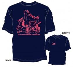 第33回全日本クラブ選手権大会限定Tシャツ〈ネイビー×ピンク〉