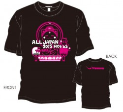 第12回全国ホープス選抜卓球大会限定Tシャツ〈ブラック:濃ピンク×ホワイト〉