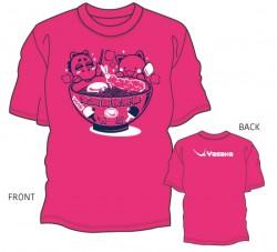 第42回全国高校選抜卓球大会限定Tシャツ〈ショッキングピンク:ネイビー×ホワイト〉