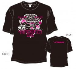 第16回全国中学選抜卓球大会限定Tシャツ〈ブラック:ホワイト×濃ピンク〉