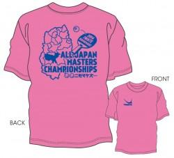 平成26年度全日本卓球選手権大会(マスターズの部)限定Tシャツ〈ピンク×ロイヤルブルー〉
