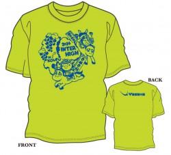 第83回全国高等学校卓球選手権大会(インターハイ)限定Tシャツ〈ライトグリーン×ロイヤルブルー〉