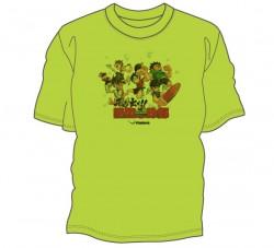 飛び出せ!熱血卓球部Tシャツ〈ライトグリーン〉