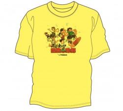 飛び出せ!熱血卓球部Tシャツ〈イエロー〉