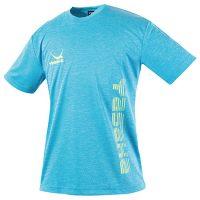 ロゴにゃんこTシャツ ヘザーブルー