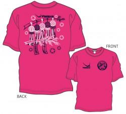 全国中学校卓球大会限定Tシャツ〈ショッキングピンク×ネイビー×ホワイト〉