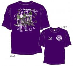 全国中学校卓球大会限定Tシャツ〈ディープパープル×ホワイト×ライムグリーン〉